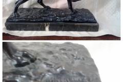 Bronzefigur Jagdhund