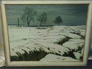 Gemälde Winterlandschaft