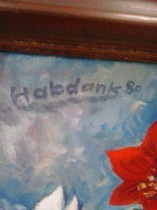 Habdank 80 Amaryllis 81x61 Signatur