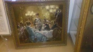 Gemälde Kaffeehaus Becker