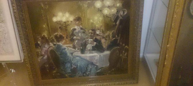 """Gemälde """"Kaffeehaus"""" von Hans J. BECKER"""