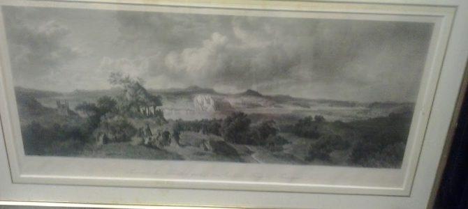 Große Original Lithographie Remagen um 1830
