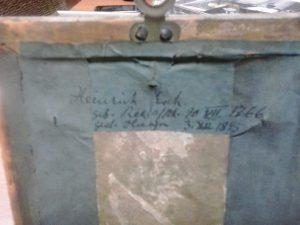 Inschrift männliche Miniatur
