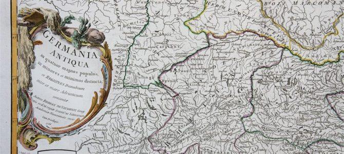 Antike Landkarte von 1756