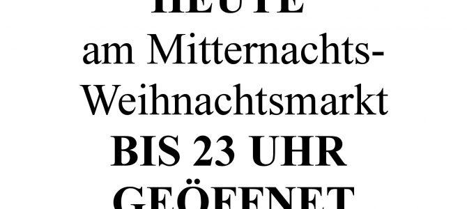 Unser besonderer Kundenservice: Sonderverkaufszeiten bis 23 Uhr in Ahrweiler!