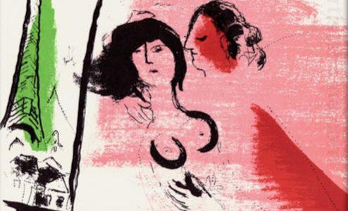 "Angebot des Tages: Chagall ""Eiffelturm in Grün""(La Tour Eiffel verte)"
