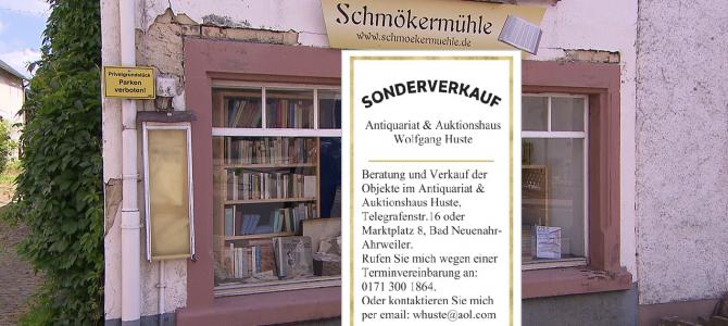 """4. und letzter Sonderverkauf in der """"Schmökermühle"""": Alles muss raus!"""