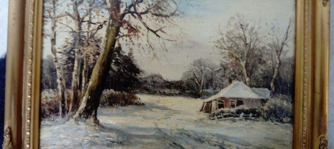"""Neuerwerb: Gemälde """"Winterlandschaft"""""""