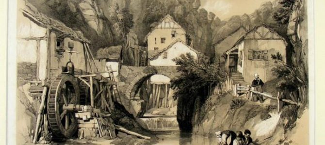 Pallien an der Mosel, Lithographie