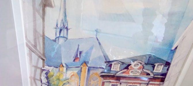 "Original-Aquarell des Künstlers Franz Ulrich ""Altes Rathaus Ahrweiler"""