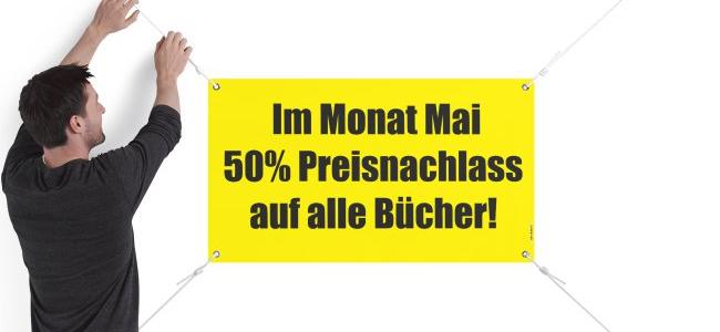 Im Mai: 50 % Rabatt auf alle Bücher in Bad Neuenahr/Telegrafenstr. 16