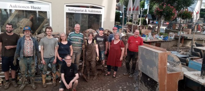 Wir machen weiter, trotz Hochwasser!